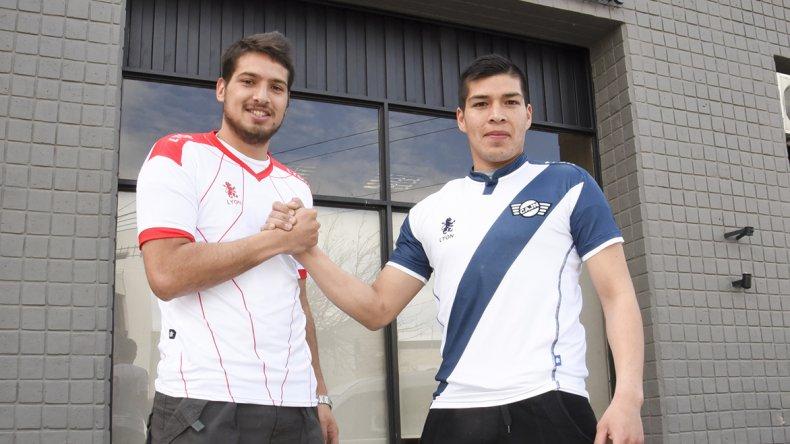 Amigos y rivales. Ezequiel Llesona y Rodrigo Cárcamo están listos para jugar el domingo.
