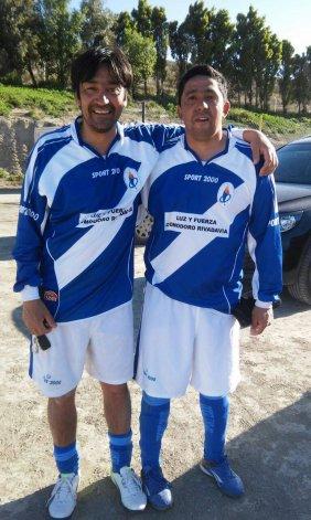Ricardo Haro –derecha– junto a su compañero José Godoy.