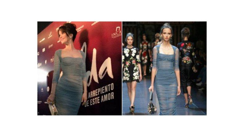 Natalia Oreiro deslumbró con un look de Dolce & Gabbana