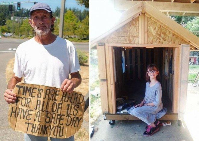 Un ejemplo: con 8 años construye casas para los sin techo
