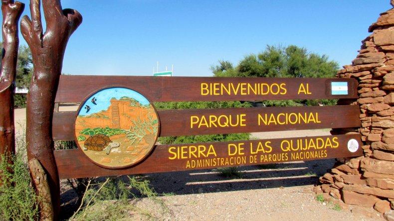 El Parque Nacional Sierra de las Quijadas abarca una extensión de 150.000 hectáreas.