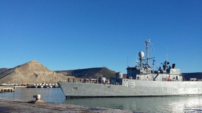 La Corbeta Spiro arribó  hoy al puerto de Comodoro