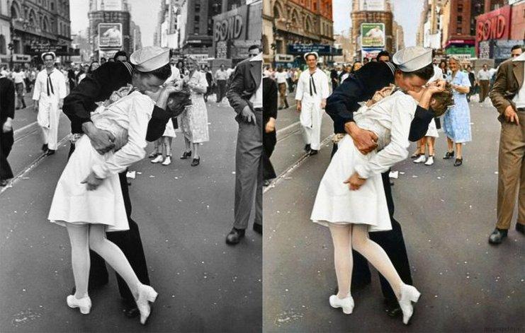 Murió la mujer de la foto ícono del fin de la Segunda Guerra Mundial