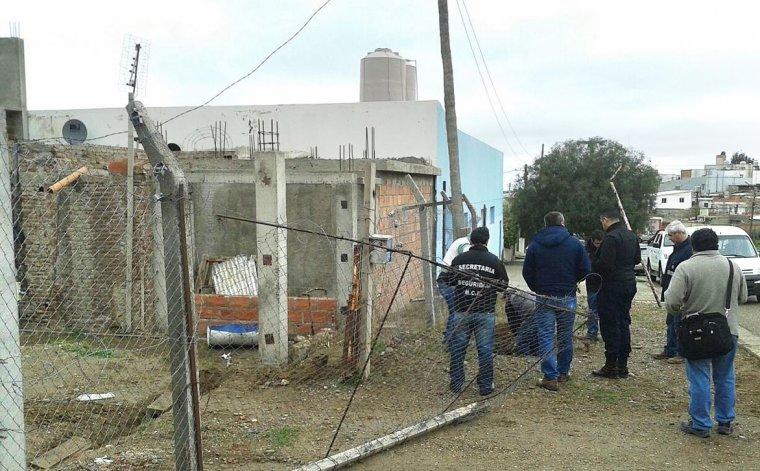 El operativo que se realizó ayer en la calle Galicia.