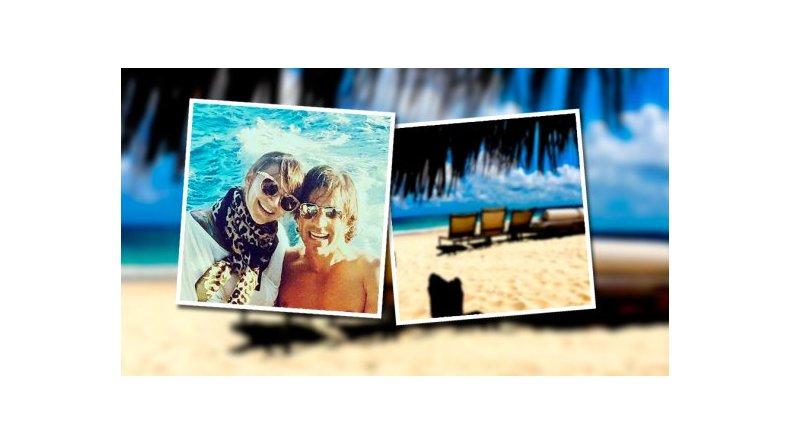 Amalia Granata de vacaciones con Leo Squarzon en el Caribe
