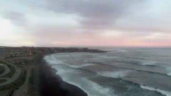 Así se ve la playa de Km 4 desde un drone