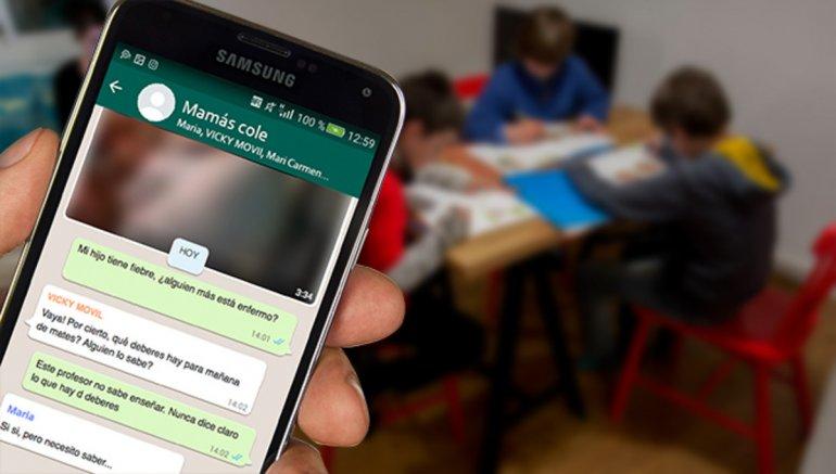 Ventajas y riesgos de los grupos de WhatsApp del colegio
