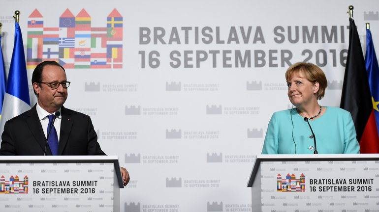 Hollande y Merkel
