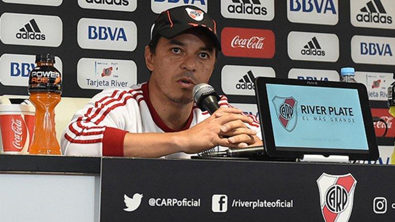 Marcelo Gallardo recién hoy sabrá el equipo que saldrá mañana a la cancha para recibir a San Martín de San Juan.
