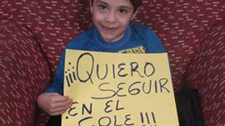 La mamá de Santiago está peleando para que su hijo vuelva a la escuela y que el Estado respete sus derechos.