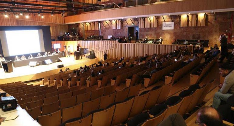 Poco acompañamiento del público durante la audiencia de ayer.