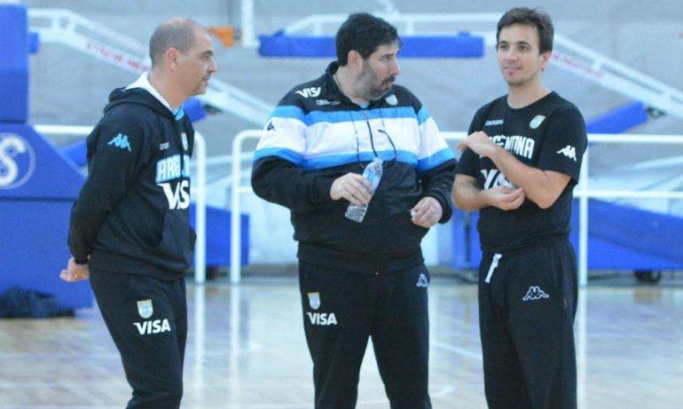 Gonzalo García junto a Sergio Hernández