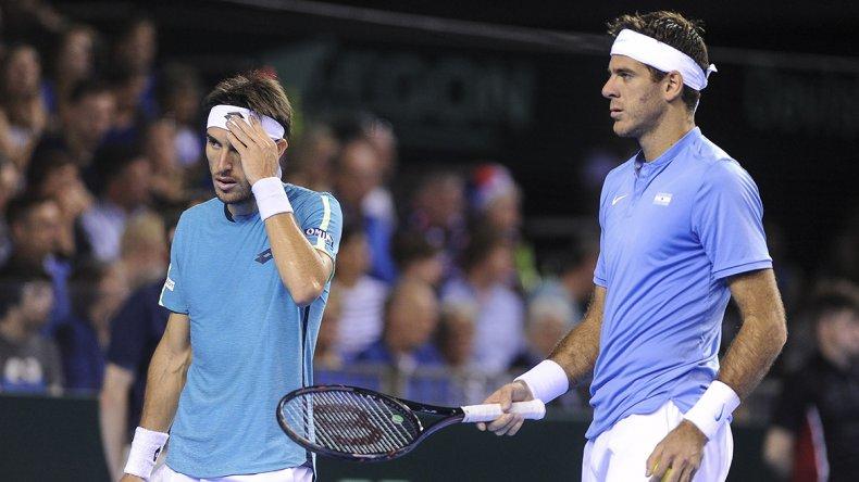 Juan Martín Del Potro y Leonardo Mayer no pudieron en el dobles y recién hoy se definirá uno de los finalistas de la Copa Davis.