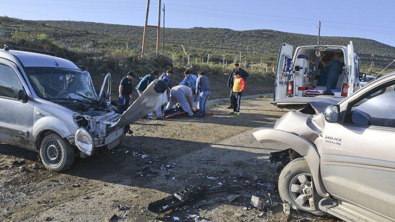Un choque en el Roque González dejó como saldo un herido
