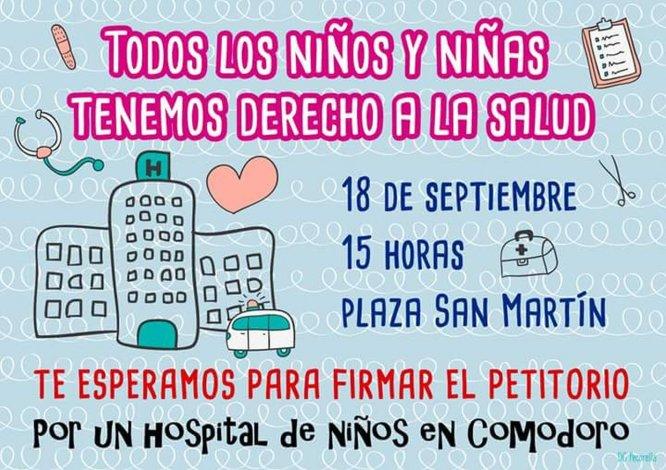 A las 15 se reúnen las familias  para apoyar el pedido de un hospital pediátrico