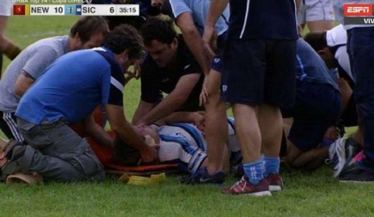 Rugbier internado en grave estado tras un golpe en un scrum
