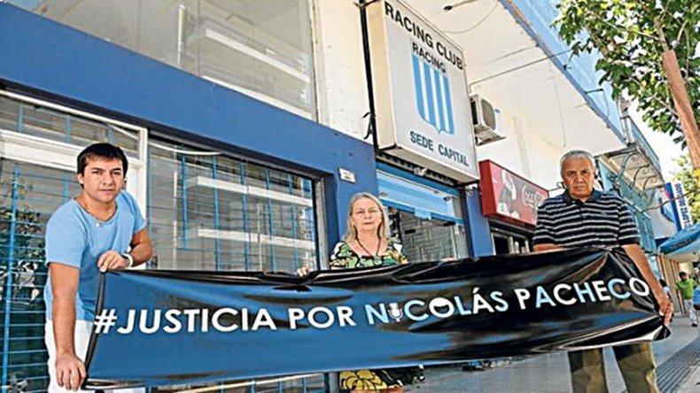 La familia de Nicolás Pacheco y su pedido de justicia.