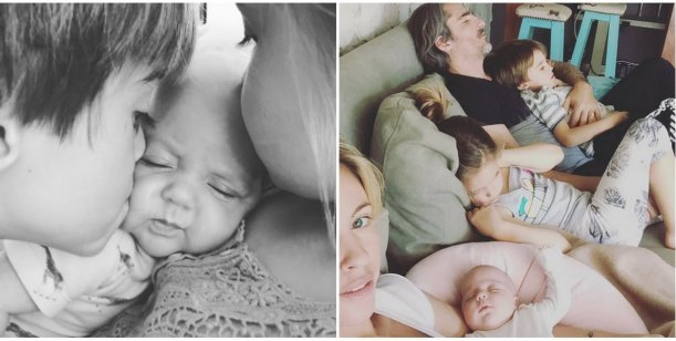 Rocío Guirao Díaz y la foto más tierna de sus tres hijos juntos