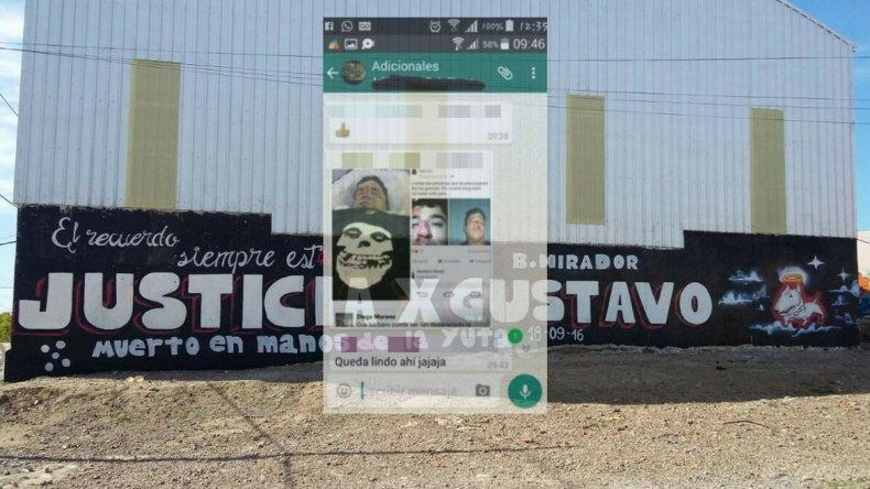 Se filtraron capturas de Whatsapp donde policías se habrían burlado de la muerte de Gerez