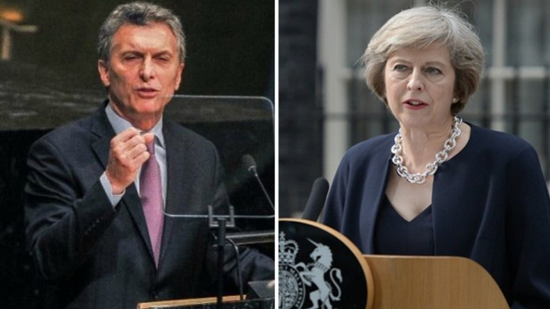 El Presidente aclaró que la charla que mantuvo con la primer ministra británica