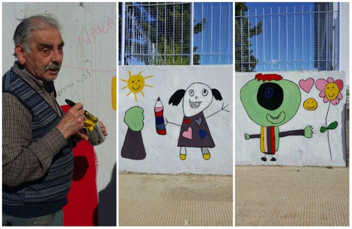 El proyecto de arte público llenó de color el jardín Nº 496