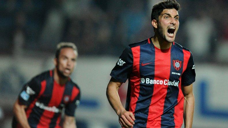 Nicolás Blandi festeja su gol