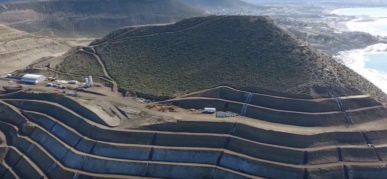 El Cerro Chenque desde el aire