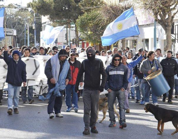El viernes pasado los trabajadores se movilizaron por las calles céntricas.