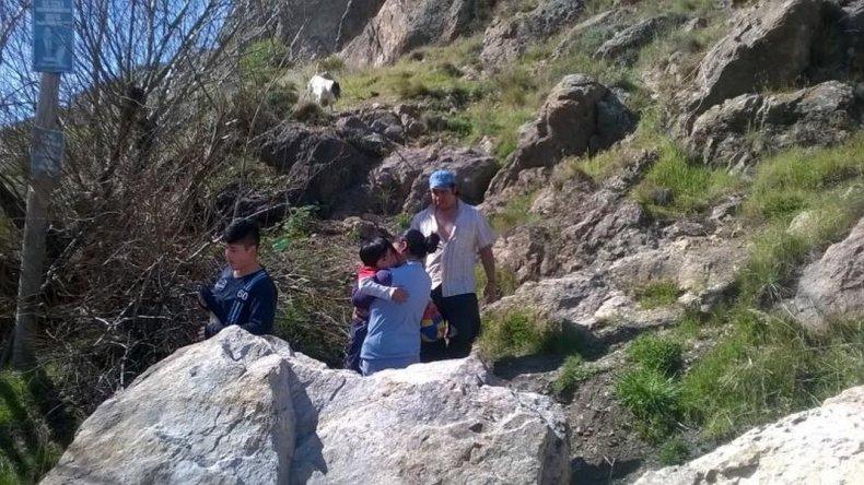 Dos niños escalaron 80 metros y debieron ser rescatados