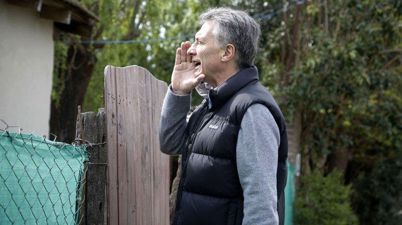 Mauricio Macri encabezó ayer un nuevo timbreo en plena caída de su aceptación.