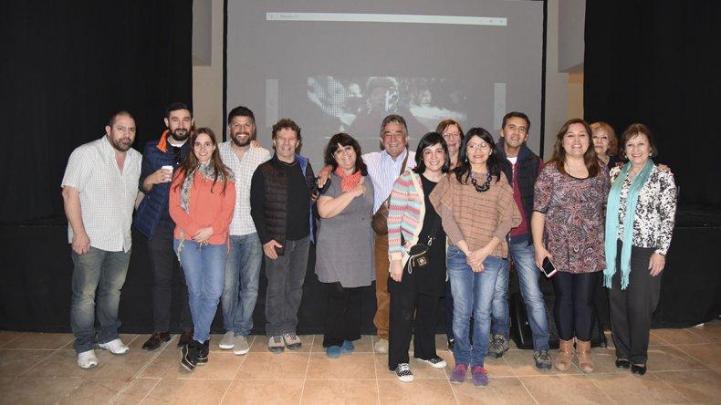 Los participantes en el ciclo que concluyó ayer en Rada Tilly.