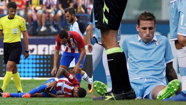Se lesionaron Biglia y Augusto Fernández