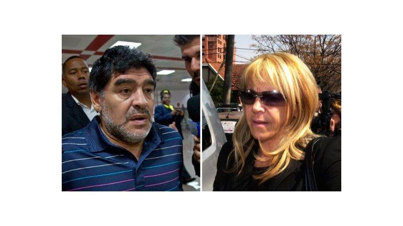 Claudia Villafañe negó que haya tenido un revés judicial en el juicio con Diego Maradona