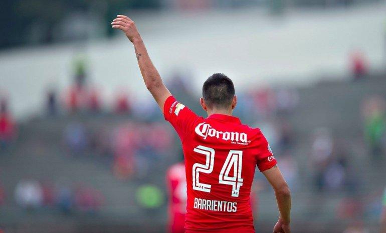 Barrientos marcó un golazo en el empate del Toluca