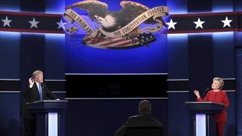 Algido primer debate presidencial entre Hillary Clinton y Donald Trump.