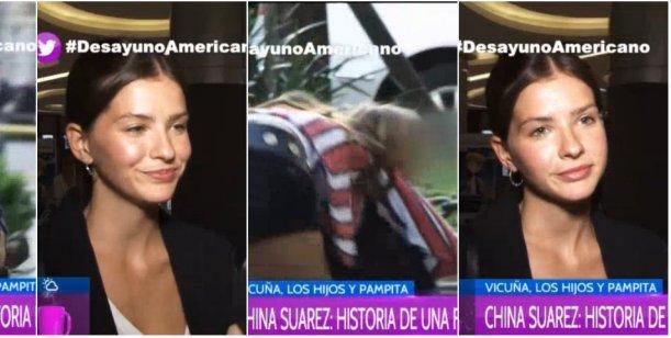 El enojo de la China Suárez cuando le preguntaron sobre el video con los hijos de Pampita
