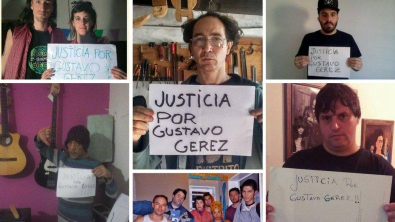 Los músicos también piden justicia por Gustavo Geréz