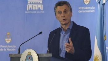Mauricio Macri en la conferencia de prensa en la quinta de Olivos.