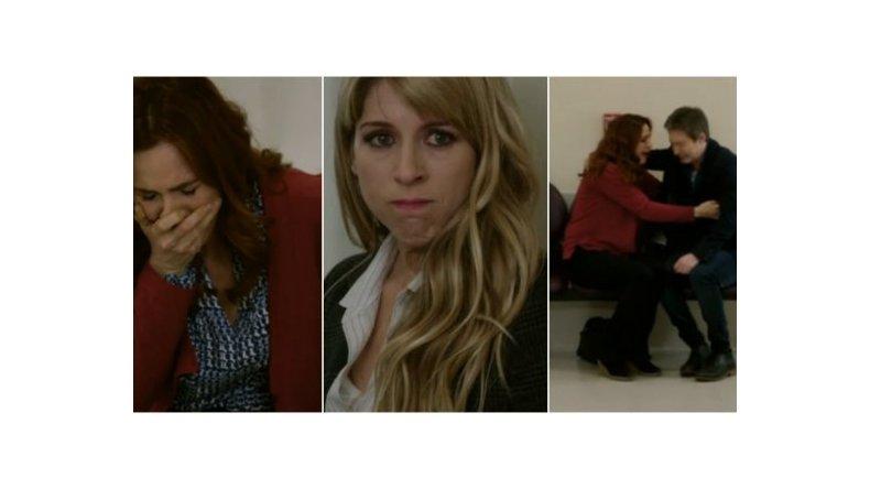 Dolorosa escena en Silencios de familia por la muerte del personaje de Gloria Carrá