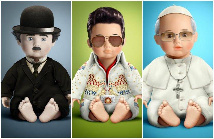 Un artista transformó un muñeco en 11 personajes históricos