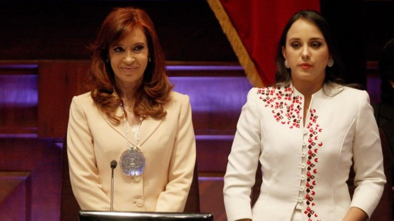 Cristina Fernández fue condecorada por la Asamblea Nacional de Ecuador
