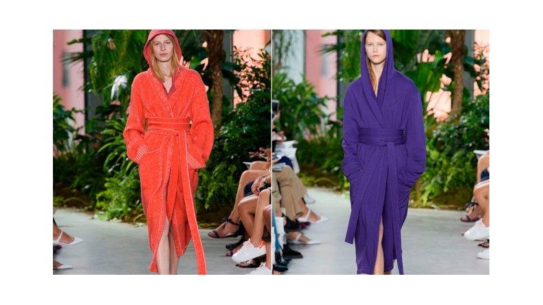 Moda loca: salir a la calle con bata y pantuflas