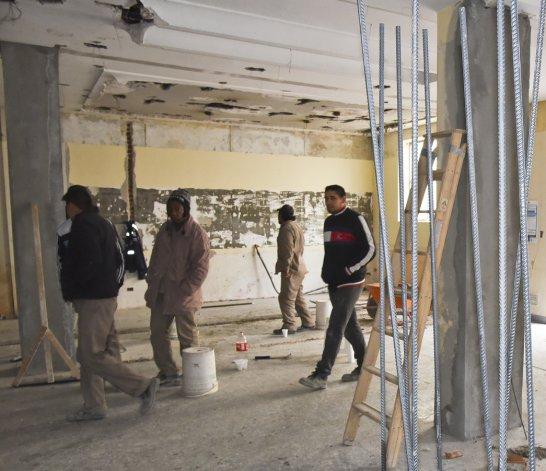 En San Martín al 900 se empezó a construir un supermercado chino y como es de rigor empezaron las diferencias sindicales.