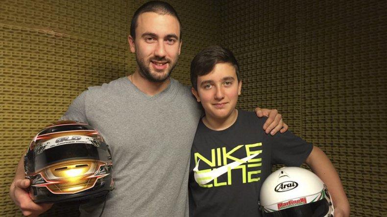 Gustavo y Thomas Micheloud en 2016. Juntos a la par con sus cascos.