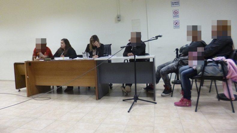La primera audiencia donde se dictó la prisión preventiva de los tres sospechosos.