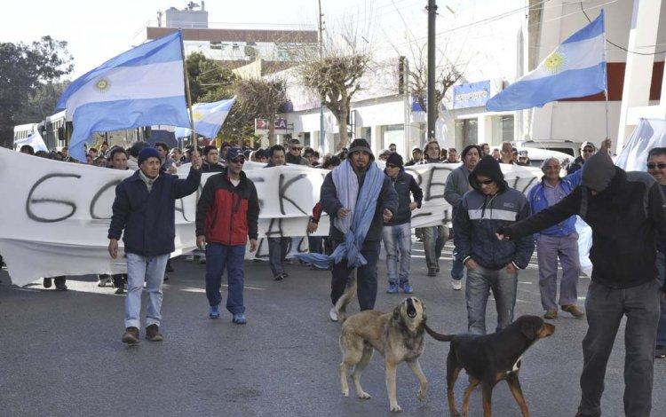 La marcha que los trabajadores de Guilford protagonizaron hace diez días por el centro.