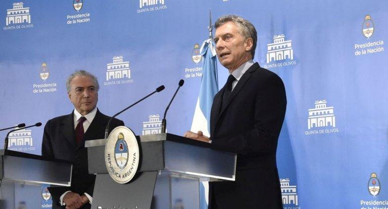 Macri y Temer van por los tratados de libre comercio para el Mercosur