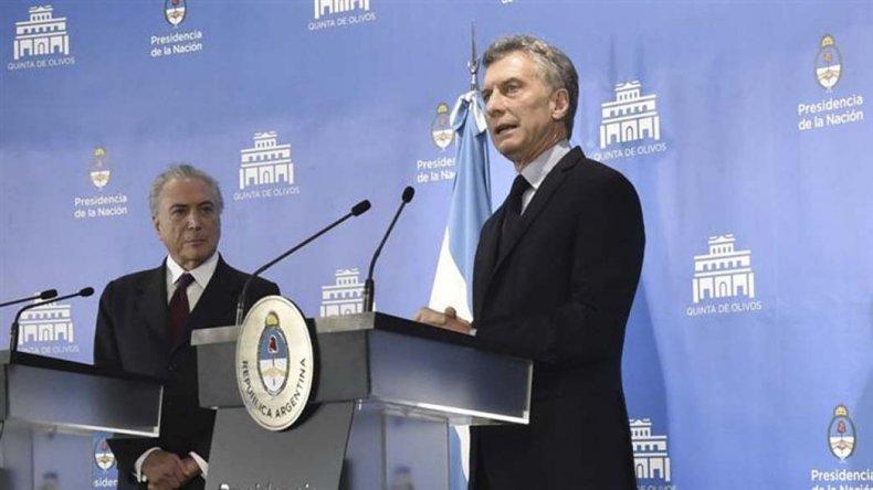 El Presidente argentino recibió al reemplazante de Dilma Rousseff.