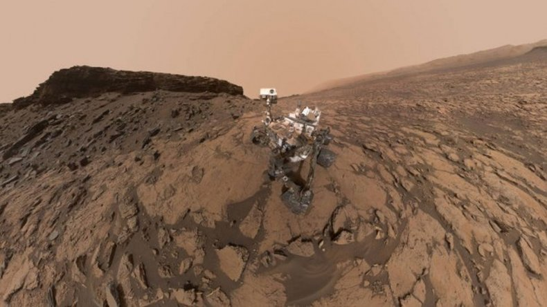 La  selfie de Curiosity en Marte