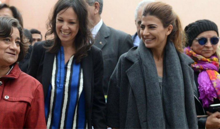 La primera dama llega a Chubut para acompañar actividades del Ministerio de Desarrollo Social